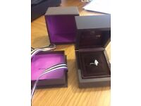 Beaverbrooks 18CT White Gold Diamond Clust Ring