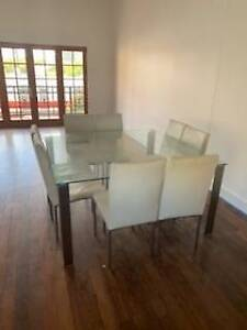Glass Dining Table 8 Seater in great condition
