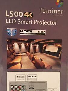 "Brand New Luminar Projector and 90"" Screen"