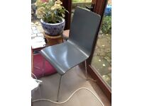 John Lewis grey wooden dining chairs