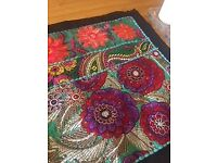 Beautiful table runners (could also be used as wall hangings) indian style with black trim