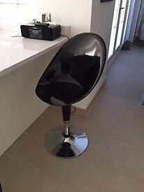 Four black vintage style kitchen stools