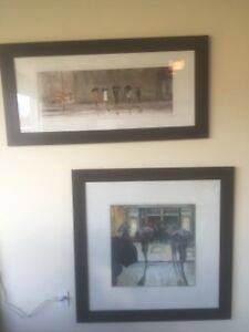 2 framed Max Moran prints