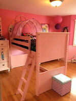 Girls pink loft bed in great condition