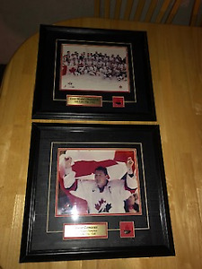 Mario Lemieux and 2002 Team Canada framed pictures