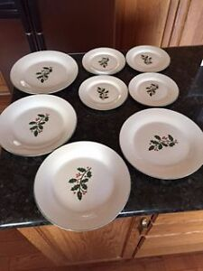 Holiday Season Dinner plates,