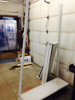 Metal Shelving 4 ft wide, 7 ft high,