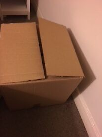 Moving Boxes - Great Condition! No writing on the boxes - good size - 18 CM - 457x457x457
