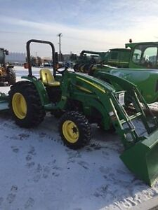 2010 JD 4105 WITH 300CX LOADER. ALSO ATTACHMENTS