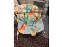Bright sparks baby bouncer and elephant rocker