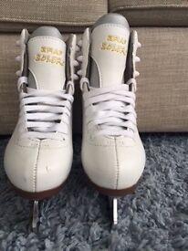 **Excellent Condition** Graf Balero Girls/Ladies White Ice Skates Size 32 (UK2)