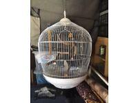 Retro hanging birdcage. As new.