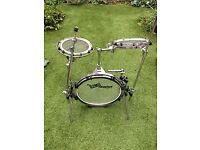 Remo Rims folding Kit, ultra portable , with case. Pair of pro timbales. 2 pairs bongos