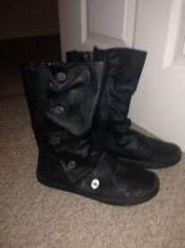 Blowfish Black Boots size 4