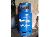 Calor gas bottle, 7kg, Full, Butane.