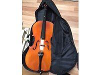 3/4 size Cello + Case