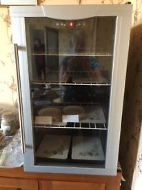 Glass fronted wine fridge
