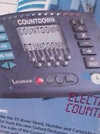 electronic game of countdown, unused and still in box