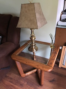 Lamps for end tables $15 ea; 2 end tables; Center Table $75 (3)