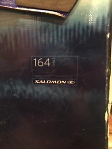 Planche Salomon 164 Wide et bottes Ride (13)