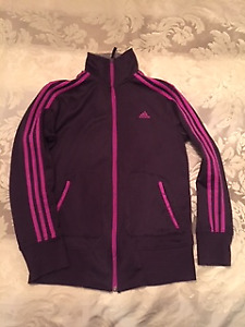 Women's Adidas Athletic Zip Jacket - Purple, Medium, Never Worn
