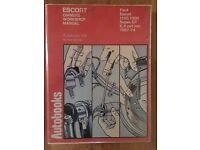 Classic Ford Escort mk1 - Workshop Manual Only £ 9.00
