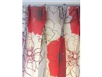 VIBRANT FULL LENGTH CURTAINS - IMPACT ANY ROOM - TWO PAIR + ONE FREE