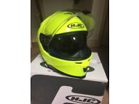 Motorbike HJC Helmet Fluorescent Yellow size Small Immaculate V good quality