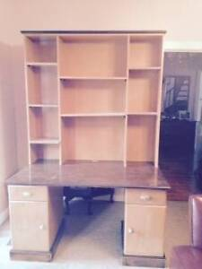 timber desk and hutch Bentleigh East Glen Eira Area Preview