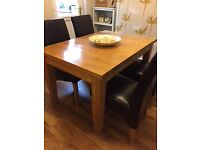 Solid ash wood table