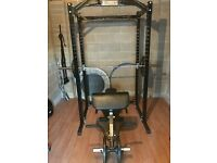 Powertec power rack and other gym equipment