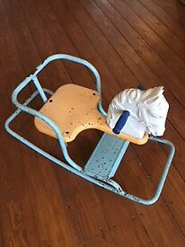 Vintage 1950's Tri-ang Child's Rocking Horse Toy Collectors Item