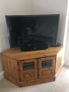 Ducal pine corner TV/DVD unit