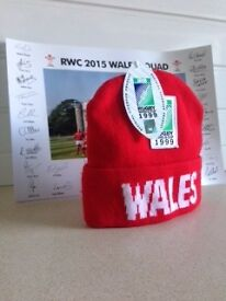 Original 1999 Rugby World Cup Wales Beanie