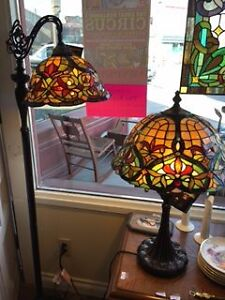 TIFFANY STYLE FLOOR & TABLE LAMPS