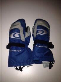 Salomon kids ski gloves