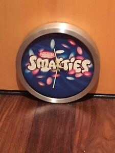 NESTLE SMARTIES ADVERTISING CLOCK/SIGN MAN CAVE COLLECTIBLE $40