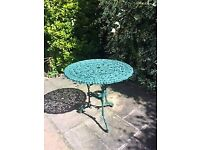 Patio Table- green wrought iron, small patio table £8