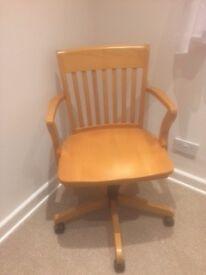 Chair Wooden Swivel (Marks & Spencer) £40 or nearest offer