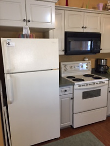 Kenmore fridge and stove and microwave