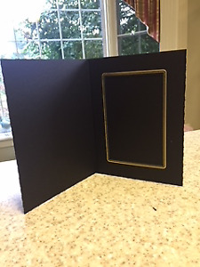 Black Photo Folders (cardboard) 3 sizes