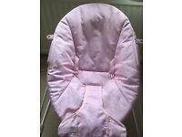 Pink Baby Bouncer with battery operated rocking motion