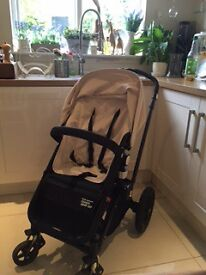 Bugaboo Chameleon in cream with black frame Limited edition RED