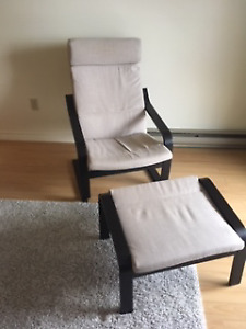 Ikea Chair and foot stool for sale $25.00