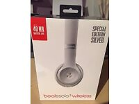 Beats Solo 3 Wireless Headphones. Silver. Brand new & sealed