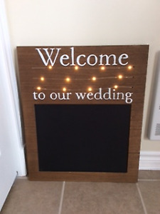 "Tableau de mariage ""Welcome To Our Wedding"""