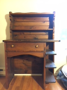 Desk with Removable Hutch