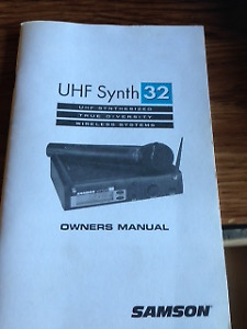 wireless systems UHF Synth 32 SAMSON + 2 wireless mics