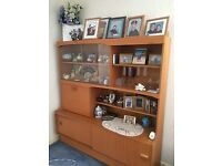 wooden dresser/display unit in perfect condition