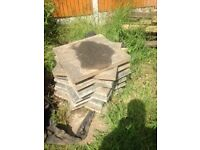 20 Garden paving slabs 660 square/grey.